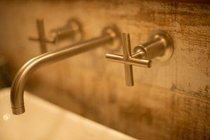 bathroom faucet close up