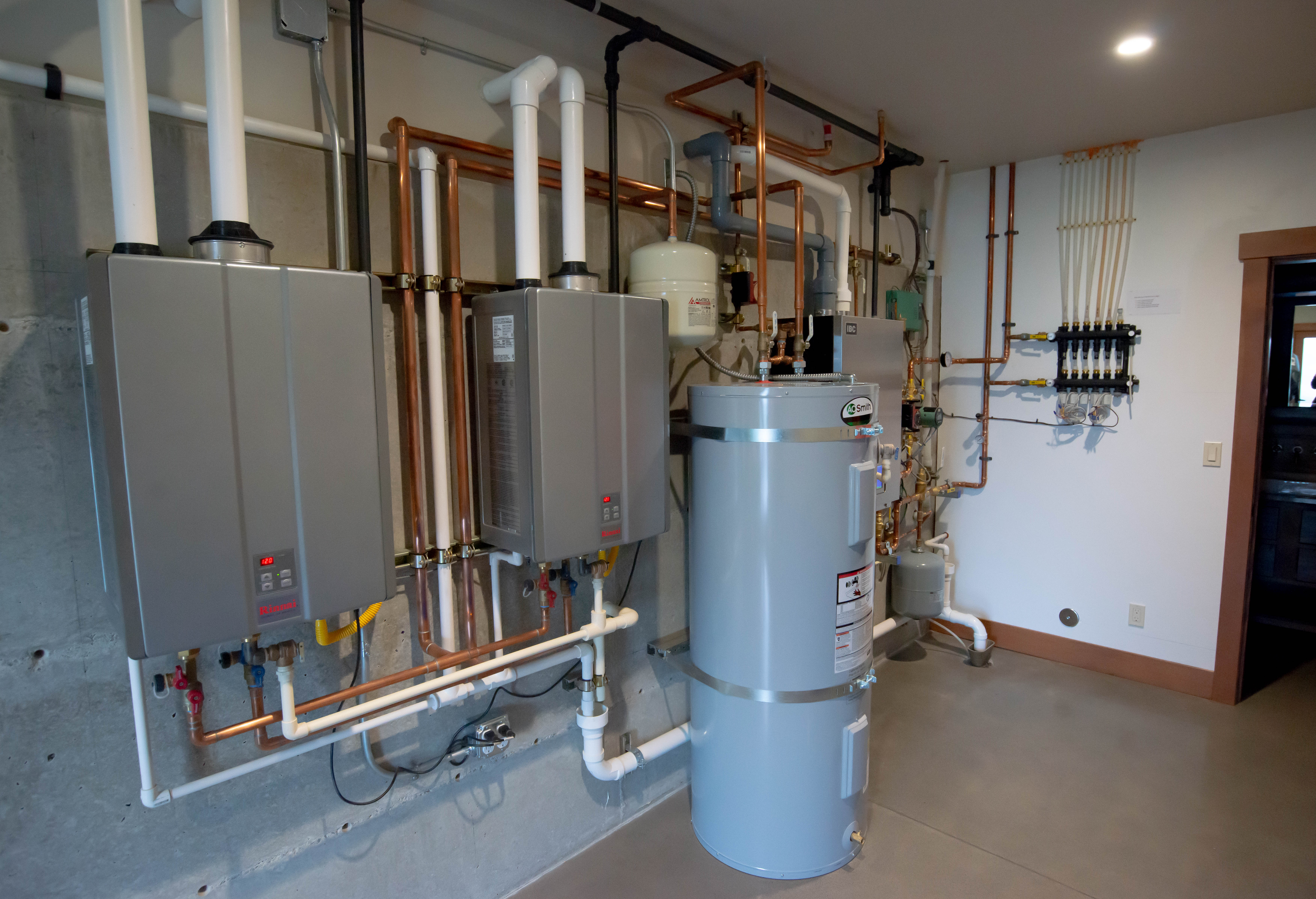 dual tankless tanks and water heater